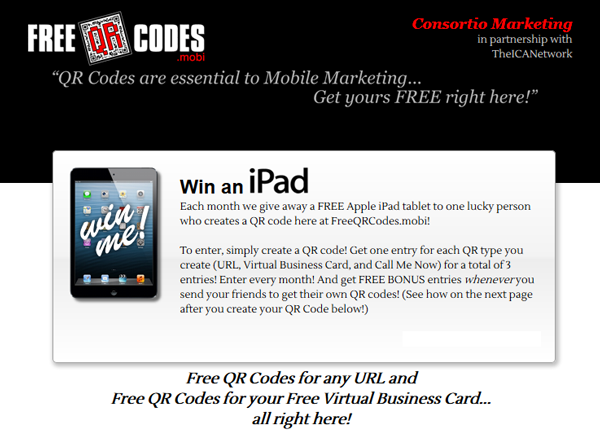 Enter to win a free ipad